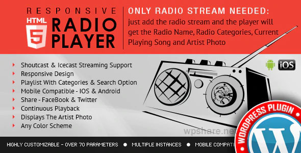 Radio Player Shoutcast & Icecast 4.1 – WordPress Plugin