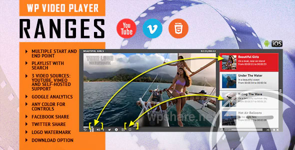 RANGES 1.1 – Video Player With Multiple Start and End Points – WordPress Plugin