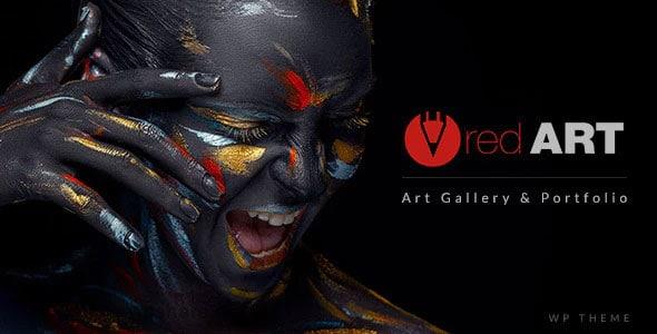 Red Art 2.3 – Artist Portfolio WordPress Theme