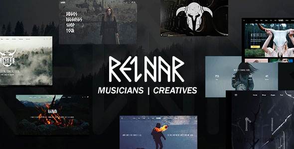 Reinar 1.2.7 – A Nordic Inspired Music and Creative WordPress Theme