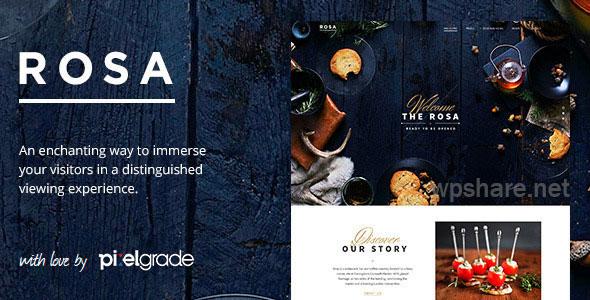 ROSA 2.8.0 – An Exquisite Restaurant WordPress Theme