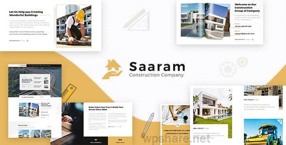Saaram – Architect & Building Theme v1.6