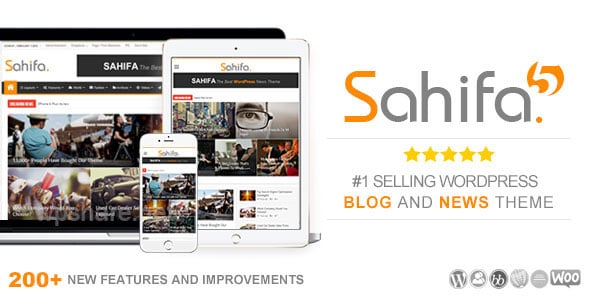 Sahifa – Responsive WordPress News / Magazine / Blog Theme v5.7.5