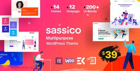 Sassico Multipurpose Saas Startup Agency WordPress Theme v2.8