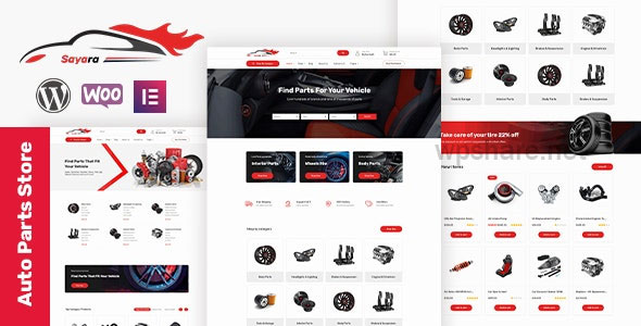 Sayara 1.1.4 – Auto Parts Store WooCommerce WordPress Theme