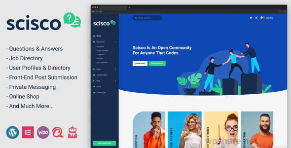 Scisco 1.2 – Questions and Answers WordPress Theme