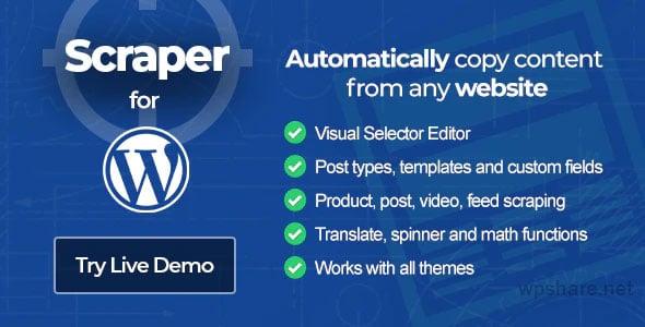 Scraper 2.1.0 – Content Crawler Plugin for WordPress