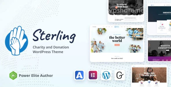 Sterling 3.0.0 – Non-Profit Charity WordPress