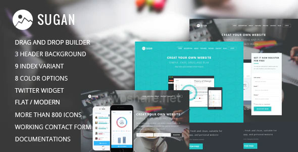 Sugan v1.0.4 – Software WordPress Theme