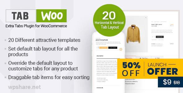TabWoo 1.0.9 – Custom Product Tabs for WooCommerce