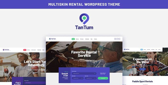 TanTum 1.1.2 – Car, Scooter, Boat & Bike Rental Services WordPress Theme