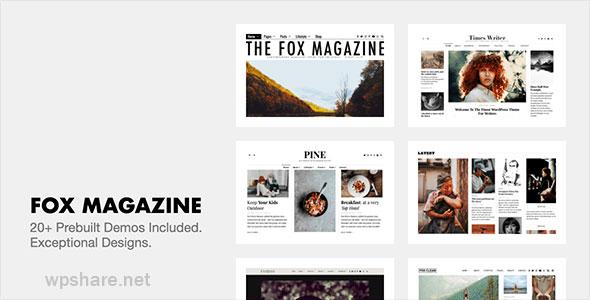 The Fox 4.6.5.2 – Modern Blog Magazine WordPress Theme