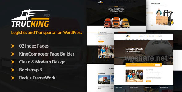 Trucking 1.20 – Logistics and Transportation WordPress Theme