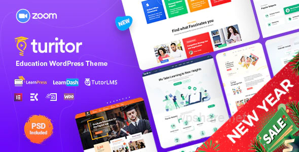 Turitor 1.3.5 – LMS & Education WordPress Theme