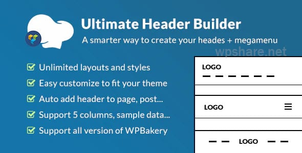 Ultimate Header Builder 1.6.9 – Addon WPBakery Page Builder