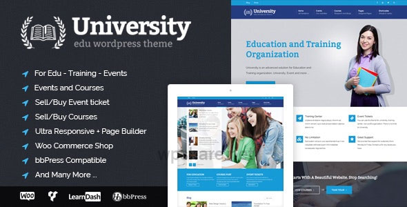 University 2.1.5 – Education, Event and Course Theme