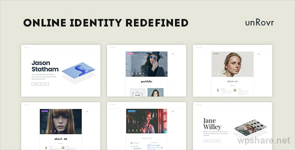unRovr 1.1.7 – Animated vCard WordPress Theme