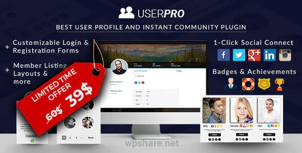 UserPro 4.9.39 – Community and User Profile WordPress Plugin