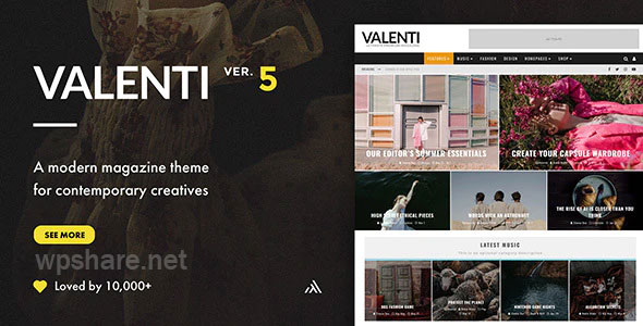 Valenti v5.6.2 – WordPress HD Review Magazine News Theme