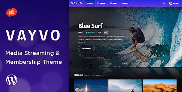 Vayvo 3.5 – Media Streaming & Membership Theme