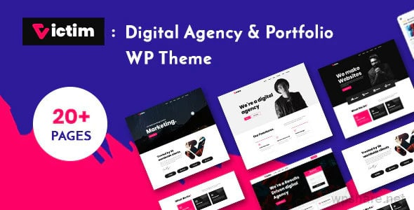 Victim 1.0.6 – Digital Agency & Portfolio WordPress Theme