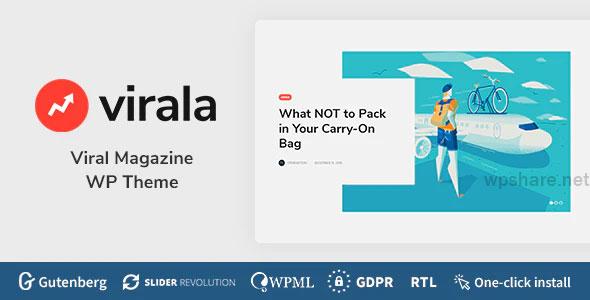 Virala 1.0.1 – Viral Magazine WordPress Theme