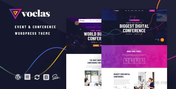 Voelas 1.1.1 – Event & Conference WordPress Theme