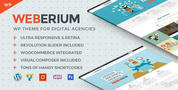 Weberium 1.14 – Responsive WordPress Theme Tailored for Digital Agencies