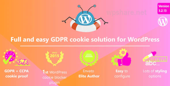 WeePie Cookie Allow v3.2.13 – Complete GDPR / AVG / CCPA Cookie Compliance WordPress plugin
