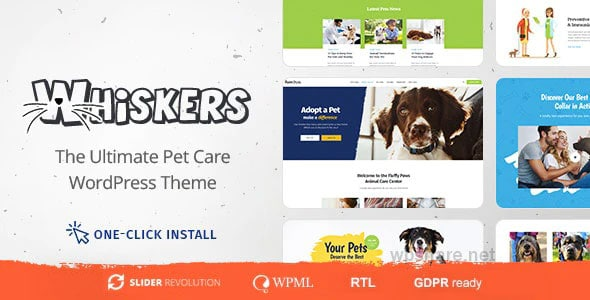 Whiskers 1.0.7 – Pet and Vet WordPress Theme
