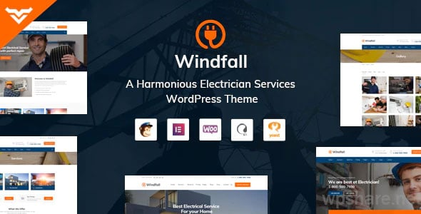 Windfall 1.3.1 – Electrician Services WordPress Theme