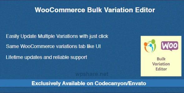WooCommerce Bulk Variation Editor 1.0.2