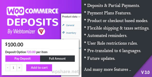 WooCommerce Deposits 3.0.3 – Partial Payments Plugin