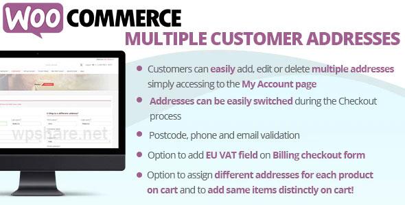 WooCommerce Multiple Customer Addresses v18.5