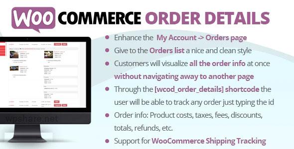 WooCommerce Order Details v3.0