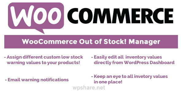 WooCommerce Out of Stock! Manager 4.4
