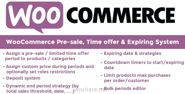 WooCommerce Pre-sale, Time offer & Expiring System 9.7