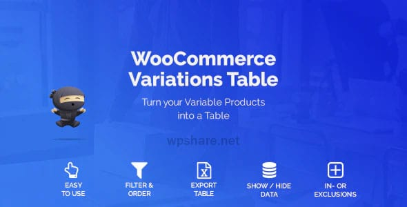 WooCommerce Variations Table v1.3.6