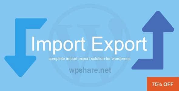 WP Import Export 3.4.1