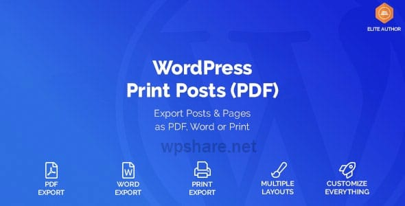WordPress Print Posts & Pages (PDF) 1.5.4