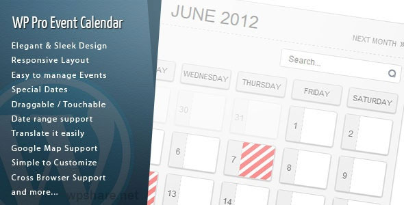WordPress Pro Event Calendar 3.2.6