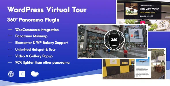 WordPress Virtual Tour 360 Panorama Plugin v1.0.7