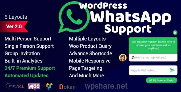 WordPress WhatsApp Support v2.0.9