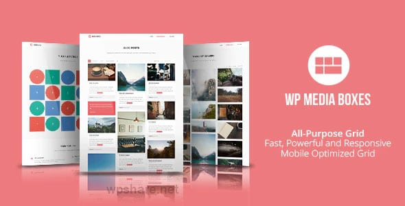 WP Media Boxes Portfolio 1.4.8 – WordPress Grid Gallery Plugin