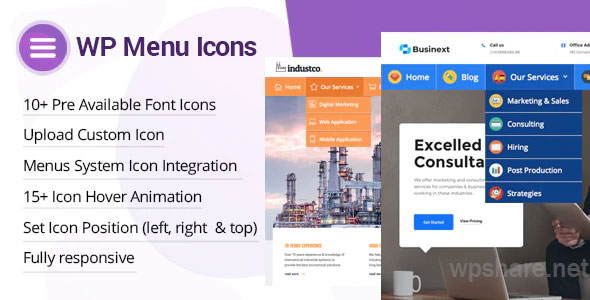 WP Menu Icons 1.1.6 – Effectively Add & Customize Icons For WordPress Menus