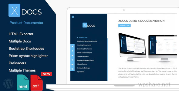 X Docs 1.1.0 – WordPress Product Documentation Creator