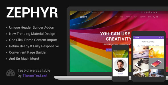 Zephyr 7.13 – Material Design WordPress Theme