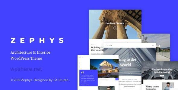 Zephys 1.1.1 – Architecture & Interior WordPress Theme