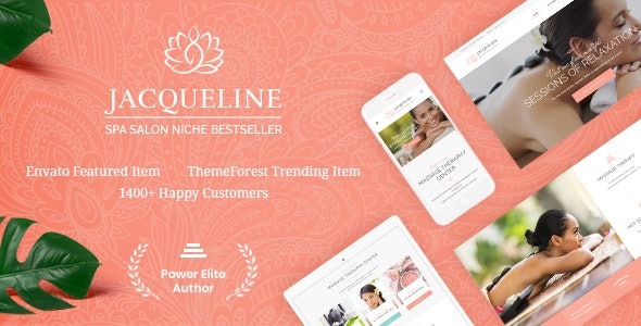 Jacqueline 1 6.4 – Spa & Massage Salon Beauty WordPress Theme + Elementor