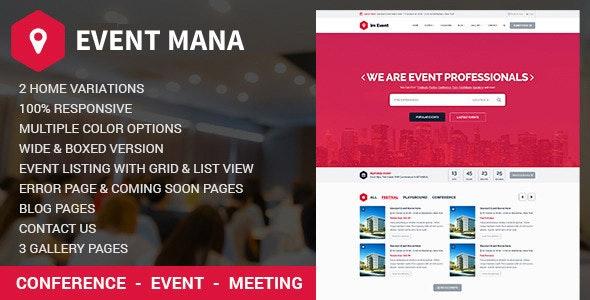 Event Management WordPress Theme v1.8.8